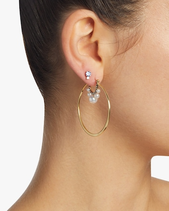 Prive Pearl Large Hoop Earrings