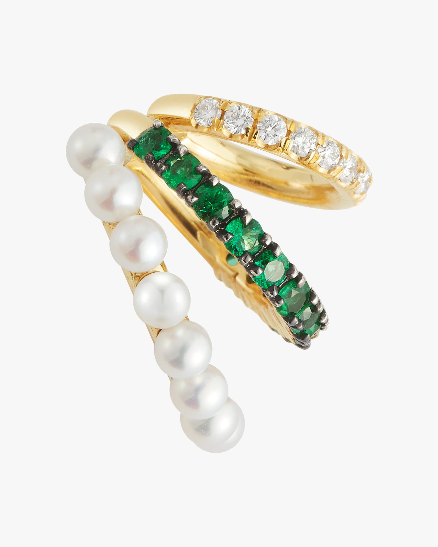 Jemma Wynne Emerald Ear Cuff 0