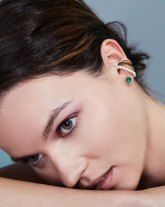 Jemma Wynne Emerald Ear Cuff 2