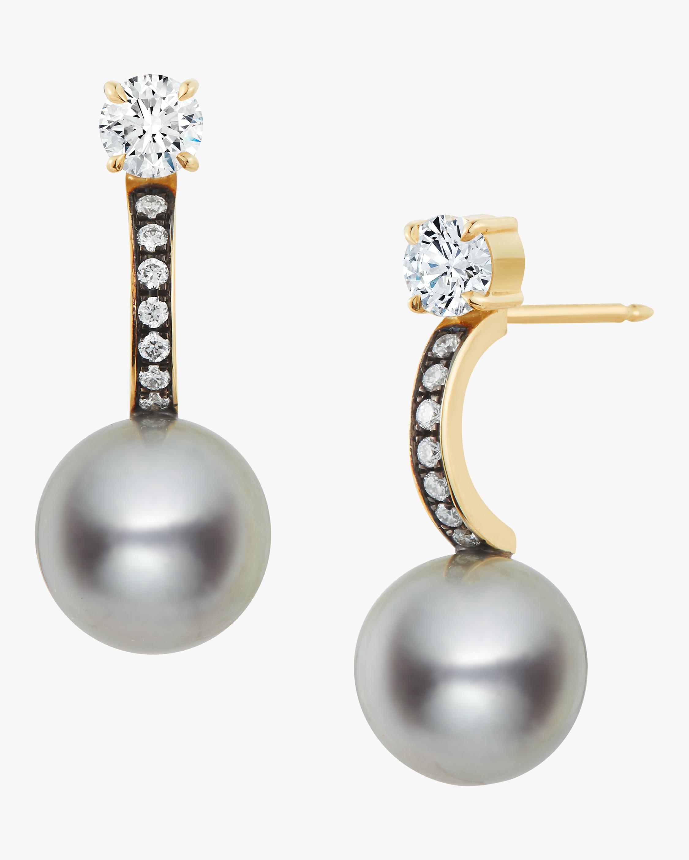 Jemma Wynne Blackened Pave Diamond Huggie Earrings 0