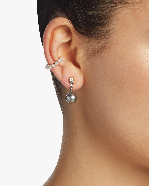 Jemma Wynne Blackened Pave Diamond Huggie Earrings 1