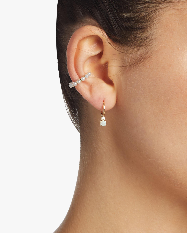 Prive Petite Gold Huggie Earrings
