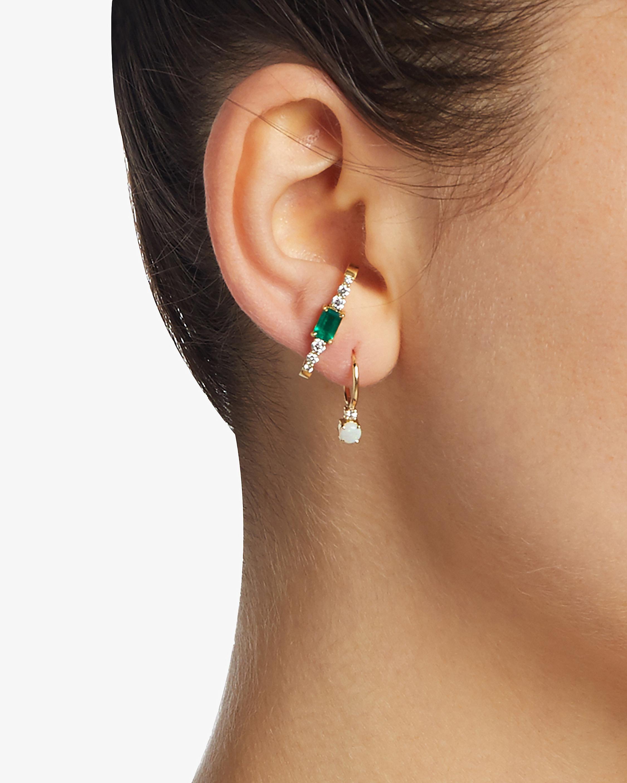 Jemma Wynne Emerald Ear Cuff 1