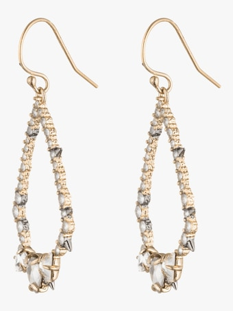 Crystal Encrusted Spiked Tear Earrings