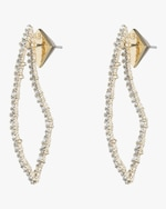 Alexis Bittar Crystal Encrusted Abstract Thorn Earrings 0