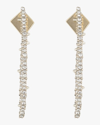 Crystal Encrusted Abstract Thorn Earrings