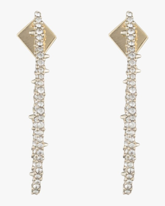 Alexis Bittar Crystal Encrusted Abstract Thorn Earrings 1
