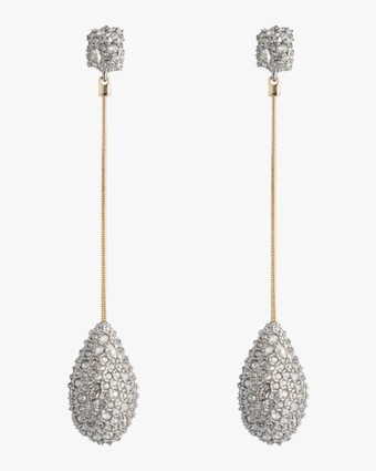 Pavé Teardrop Post Earrings