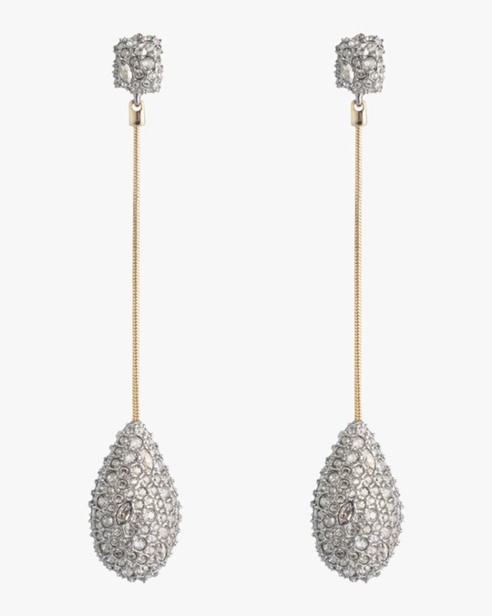 Alexis Bittar Pavé Teardrop Post Earrings 0