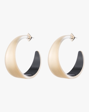 Wide Graduated Medium Hoop Earrings