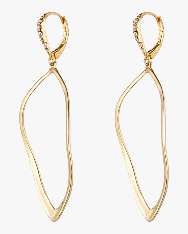 Sculpted Aura Tear Leverback Earrings