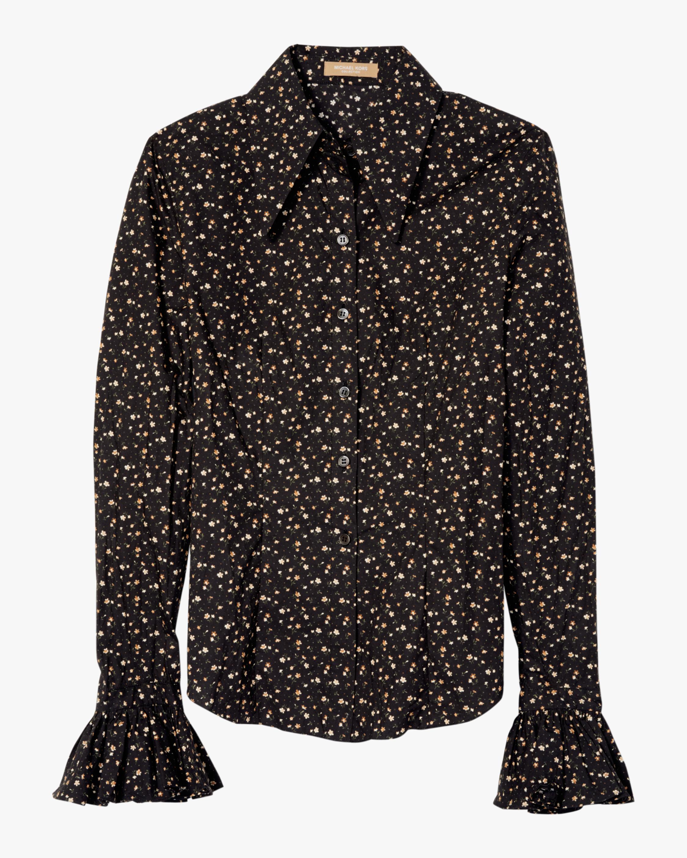 Poplin Ruffle Cuff Shirt