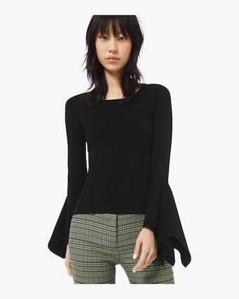 Viscose Scoop Neck Pullover Sweater