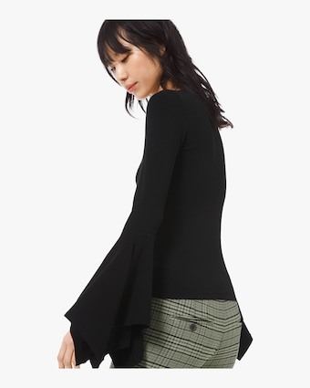 Viscose Scoop Neck Pullover Sweater