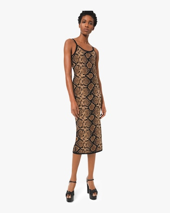Viscose Python Slip Dress