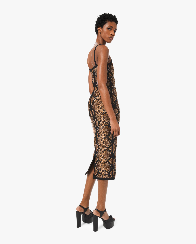 Viscose Python Slip Dress