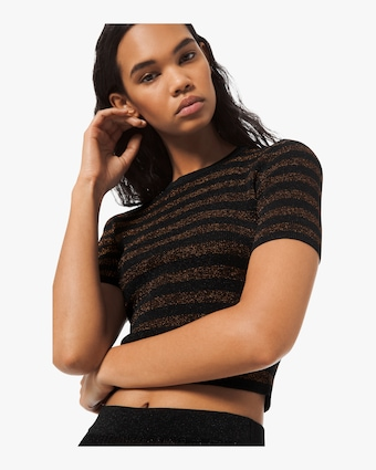 Metallic Viscose Rib Tee
