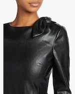 Badgley Mischka Faux Leather Knot Cocktail Dress 3
