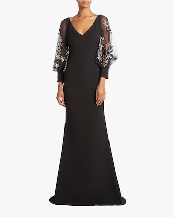 Embellished Blouson Sleeve Dress