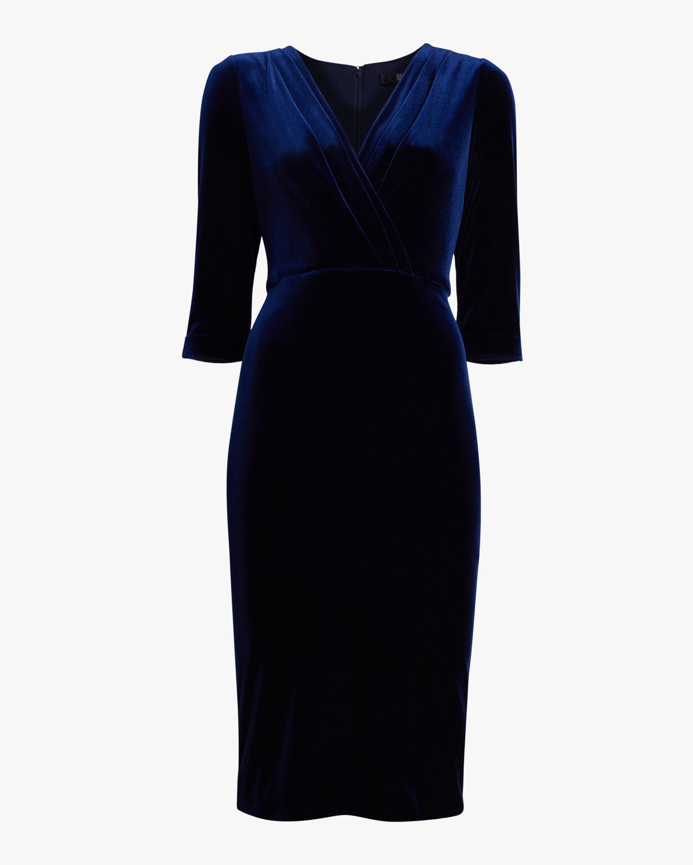 Front Drape Velvet Dress