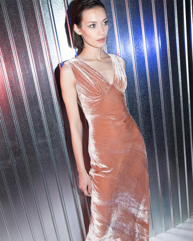 Adira Velvet Sleeveless Gown