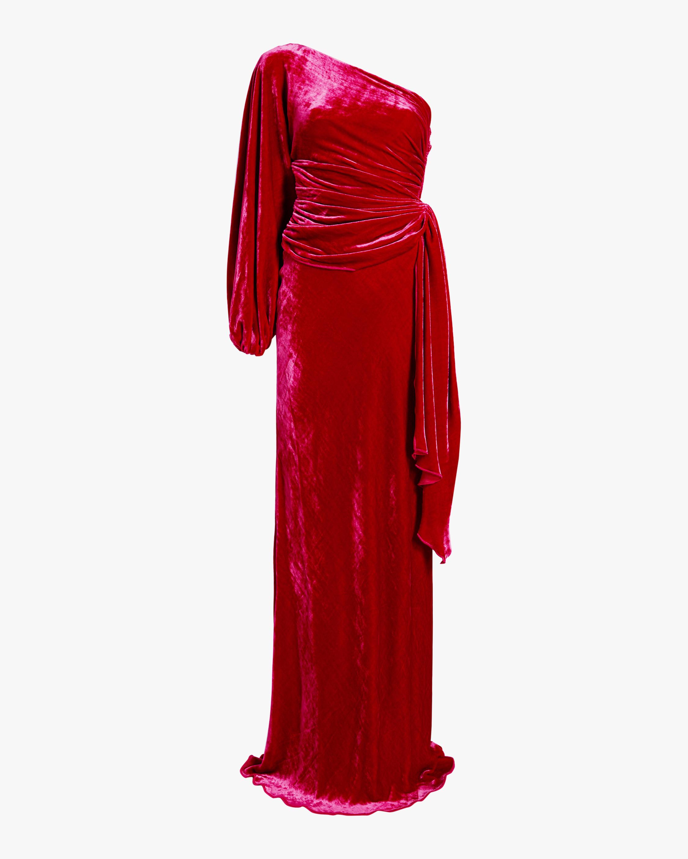 Maria Lucia Hohan Amaris Velvet One Shoulder Gown 1