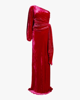 Maria Lucia Hohan Amaris Velvet One Shoulder Gown 1