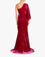 Maria Lucia Hohan Amaris Velvet One Shoulder Gown 5