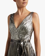 Maria Lucia Hohan Arely Lurex Chiffon Pleated Gown 2