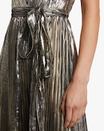 Maria Lucia Hohan Arely Lurex Chiffon Pleated Gown 3