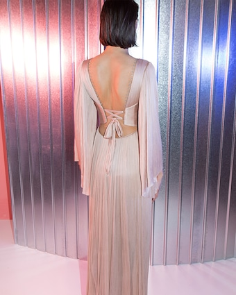 Catalina Embellished Long Sleeve Gown