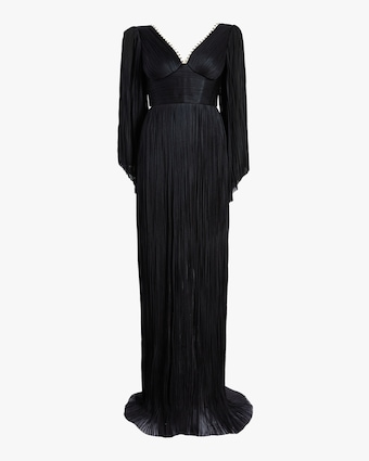 Maria Lucia Hohan Catalina Embellished Long Sleeve Gown 1
