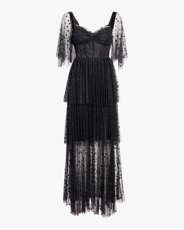 Maria Lucia Hohan Keona Polka Dot Tulle Gown 1