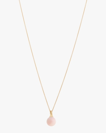 Africa Boules Pink Opal Pendant Necklace