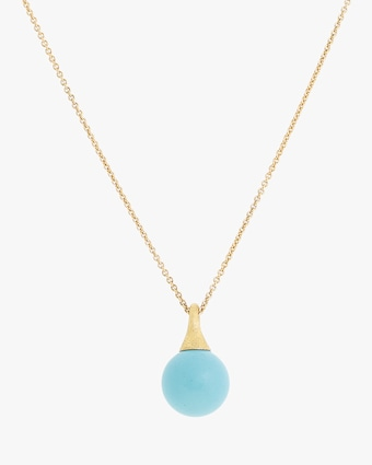 Africa Boules Turquoise Pendant Necklace