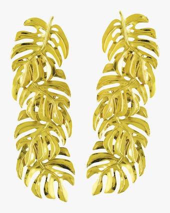Long Adam's Rib Earrings