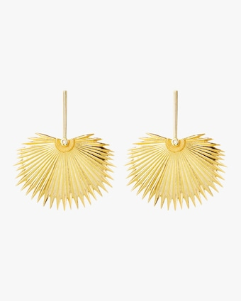 Royal Fan Palm Leaf Earrings