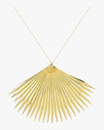 Fan Palm Leaf Necklace