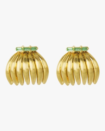 Banana Emerald Earrings