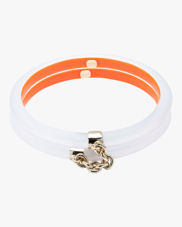 Chain Linked Double Skinny Bangle Bracelets