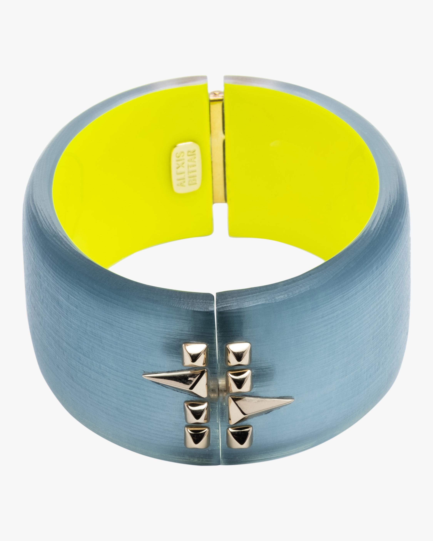 Large Golden Studded Hinge Bracelet