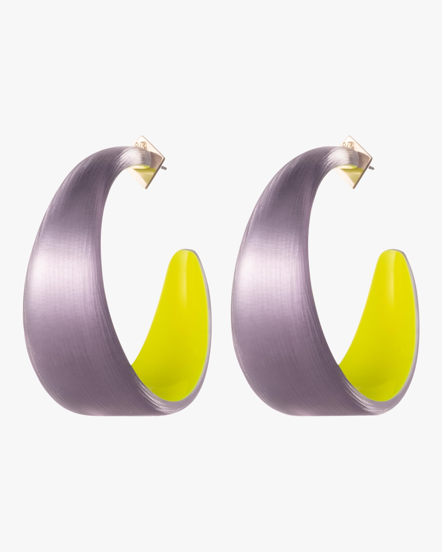 Wide Graduated Medium Hoop Earrings