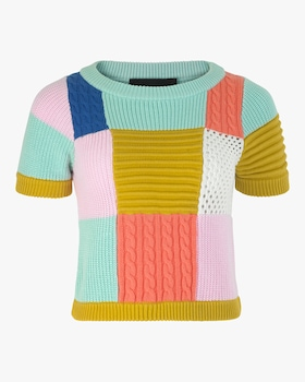 Kiki Patchwork Knit Top