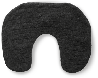 Cashmere Cable Neck Pillow image two