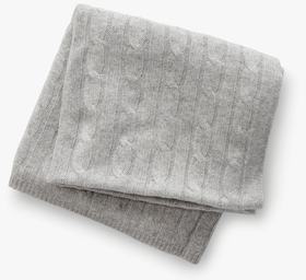 Cashmere Baby Cable Blanket