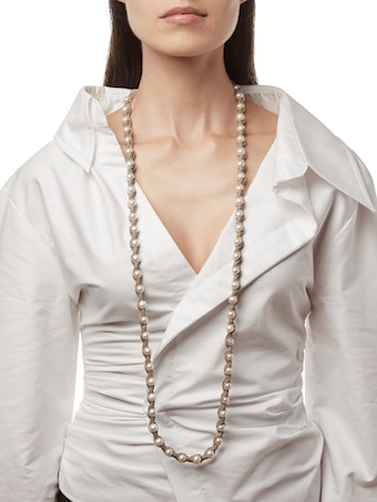 Blanc Bone Necklace