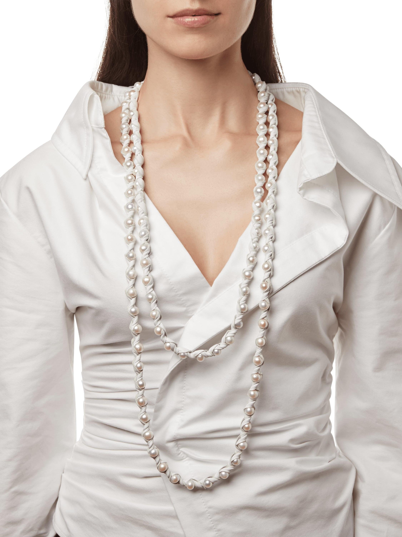 Marta Blanc Neige 48 Inch Necklace 2