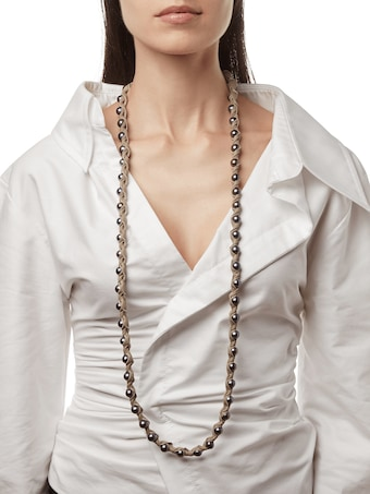 Marta Dahlia Bone 36 Inch Necklace 2