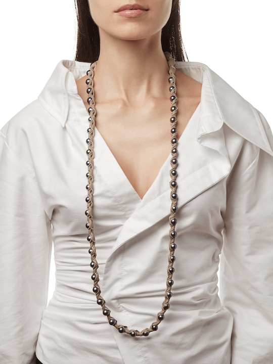 Marta Dahlia Bone 36 Inch Necklace 1