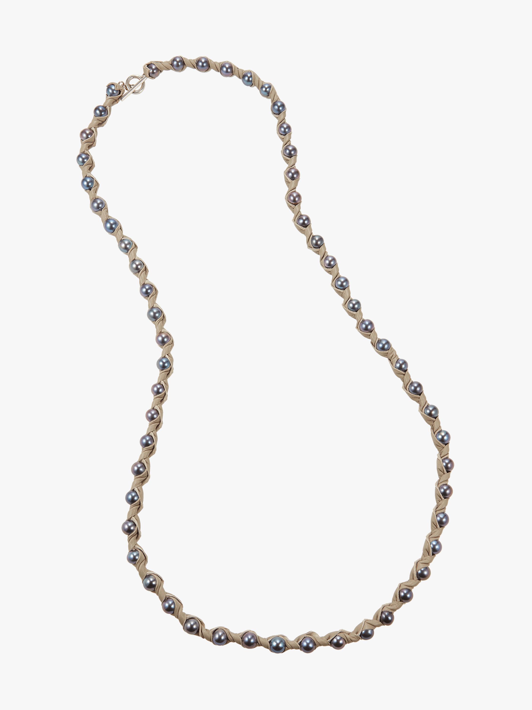 Marta Dahlia Bone 48 Inch Necklace 1